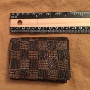 💯 authentic LV DE mini wallet/card holder